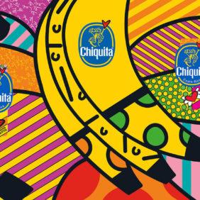 Il bollino blu Chiquita di Romero Britto