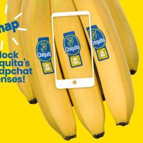 Chiquita fa squadra con Snapchat in vista del World Banana Day