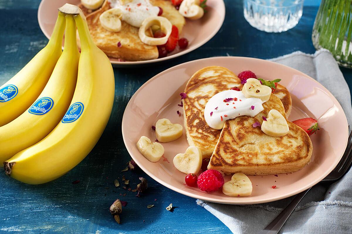 Pancake alla banana Chiquita per San Valentino