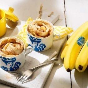 Rotolo in tazza alla cannella e banane Chiquita
