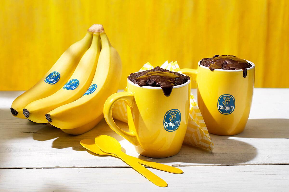 Brownie in tazza alla banana Chiquita