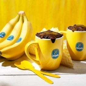 Brownie in tazza alla banana Chiquita