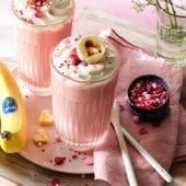 Cioccolata calda rosa alla banana Chiquita per San Valentino