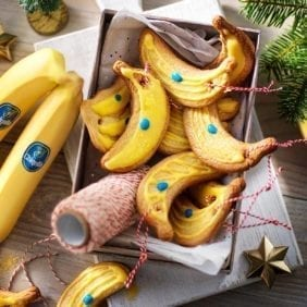 Biscotti natalizi alla banana Chiquita