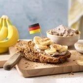 Vollkornbrot tedesco con banana Chiquita e cocco