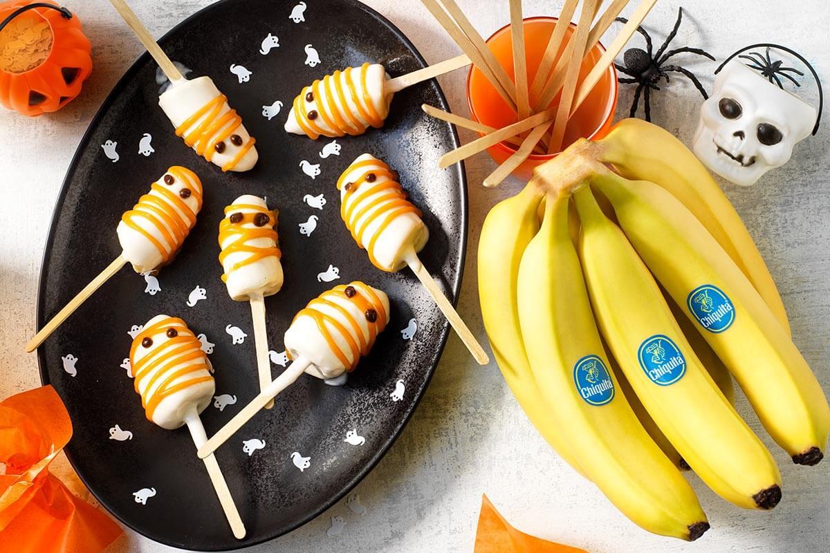 Ghiaccioli fantasma di Halloween di banane Chiquita