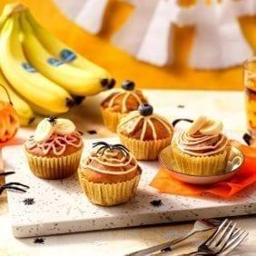 Muffin di Halloween alla zucca con banane Chiquita