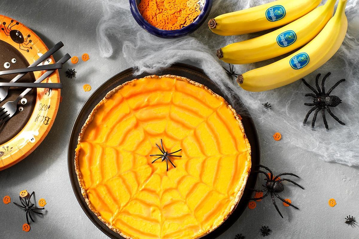 Crostata di Halloween alla zucca con banane Chiquita