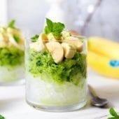 Granita salutare a base di cetrioli con banana Chiquita e menta