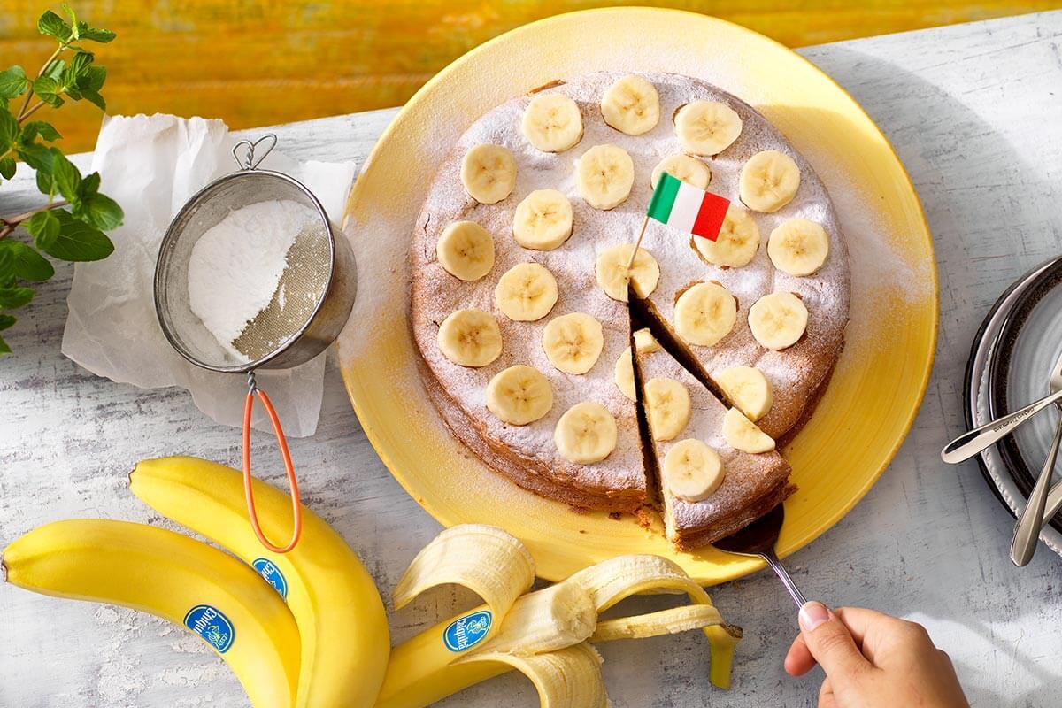 Torta paradiso italiana con banana Chiquita