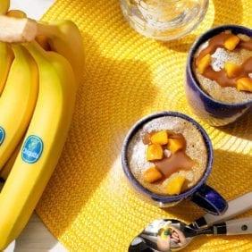 Torta in tazza alla zucca e banana Chiquita