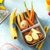 Snackbox con sandwich di burro di arachidi e banana Chiquita