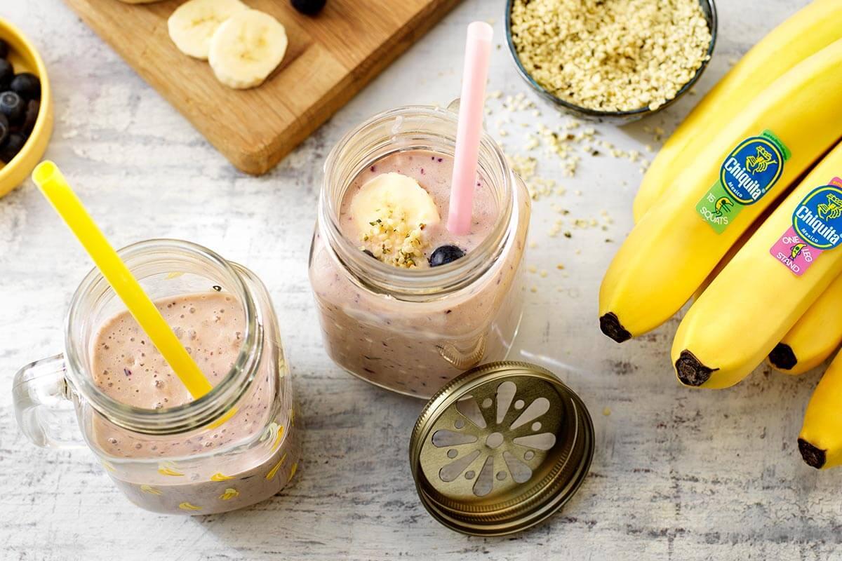 Frullato proteico alla vaniglia con banana Chiquita matura