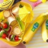 Wrap con fettine di banana Chiquita biologica e burro di arachidi
