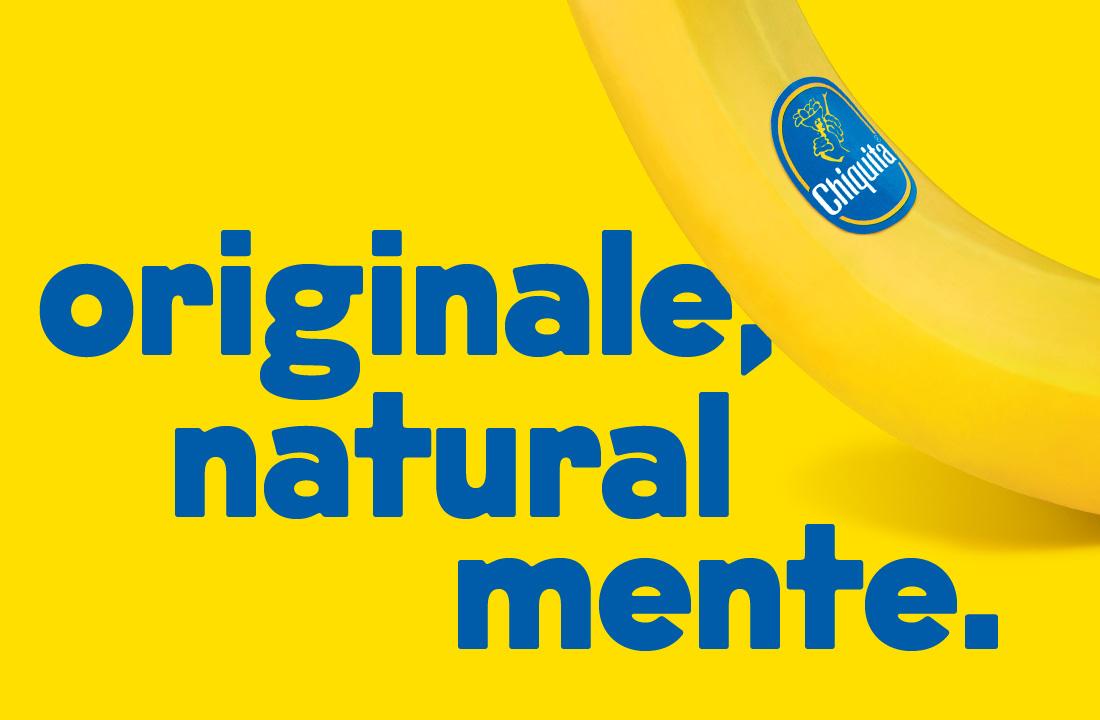 """Chiquita torna in comunicazione con """"Originale, naturalmente"""", la nuova campagna di comunicazione integrata che, in due sole parole, concentra l'essenza stessa del brand che, da sempre, si racconta in modo originale, dinamico e giocoso, senza perdere il suo gusto """"naturalmente"""" 10 e lode."""