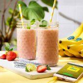 Frullato di banane Chiquita e fragole