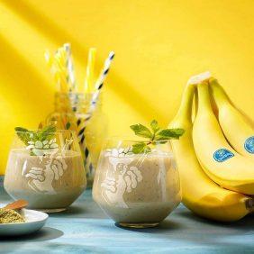 Frullato di banane Chiquita al tè verde