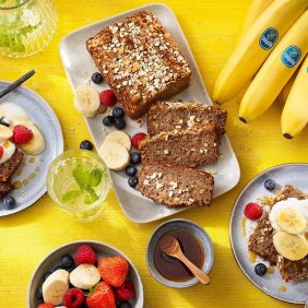 Banana bread con fiocchi d'avena e banane Chiquita