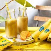 Frullato di banane Chiquita, arancia e zenzero