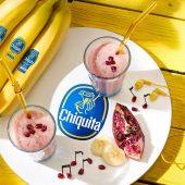 Frullato di banane Chiquita e melagrana