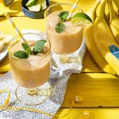 Frullato tropicale di banane Chiquita con yogurt
