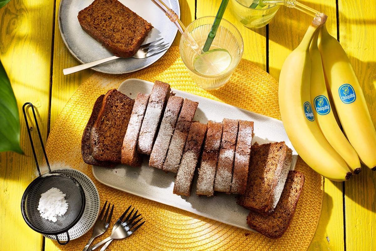 Banana bread vegano con banane Chiquita e burro d'arachidi