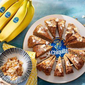 Banana bread al cocco e banane Chiquita