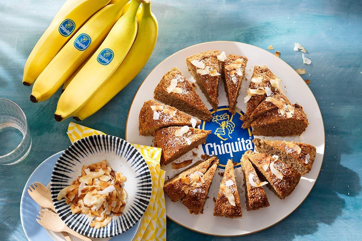 Banana bread vegano al cocco e banane Chiquita