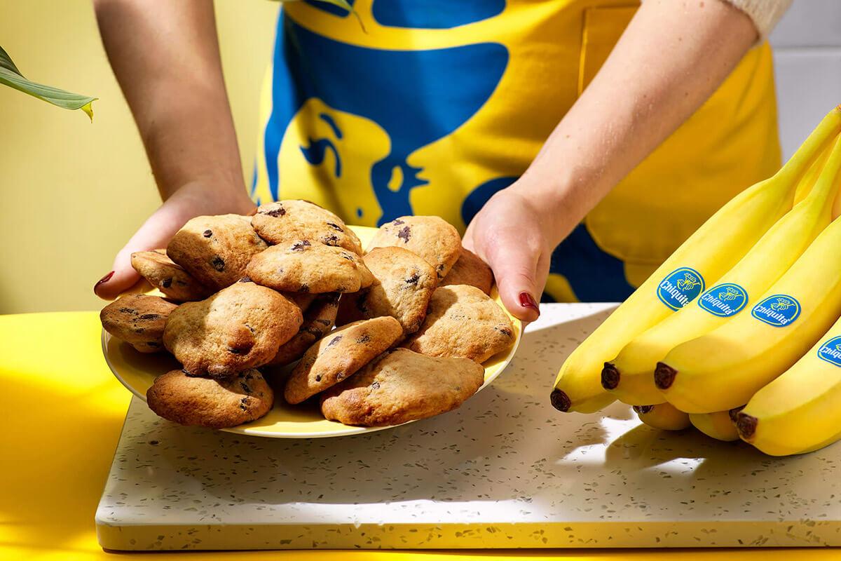 Biscotti con gocce di cioccolato e banane Chiquita facili da preparare