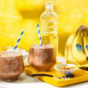 Frullato proteico post allenamento con banane Chiquita
