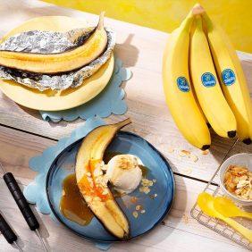 Banana split Chiquita alla griglia