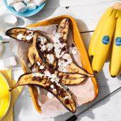 Banane Chiquita alla griglia, farcite con cioccolato e marshmallow