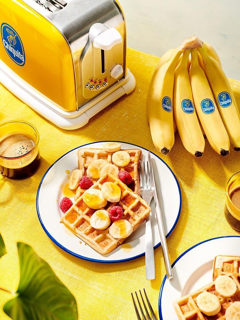 Waffle vegani al banana bread Chiquita