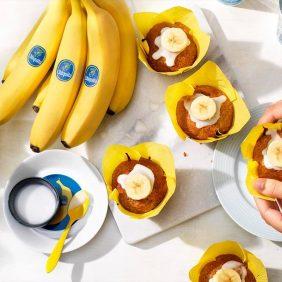 Cremosi cupcake vegani con banana Chiquita