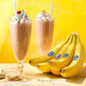 Frappè vintage alla banana Chiquita e vaniglia