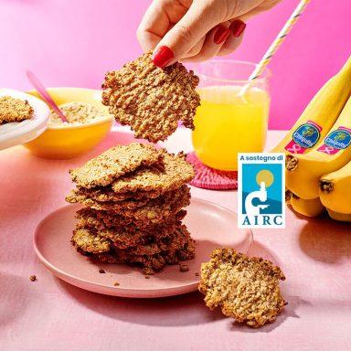 Biscotti con farina d'avena e banane Chiquita