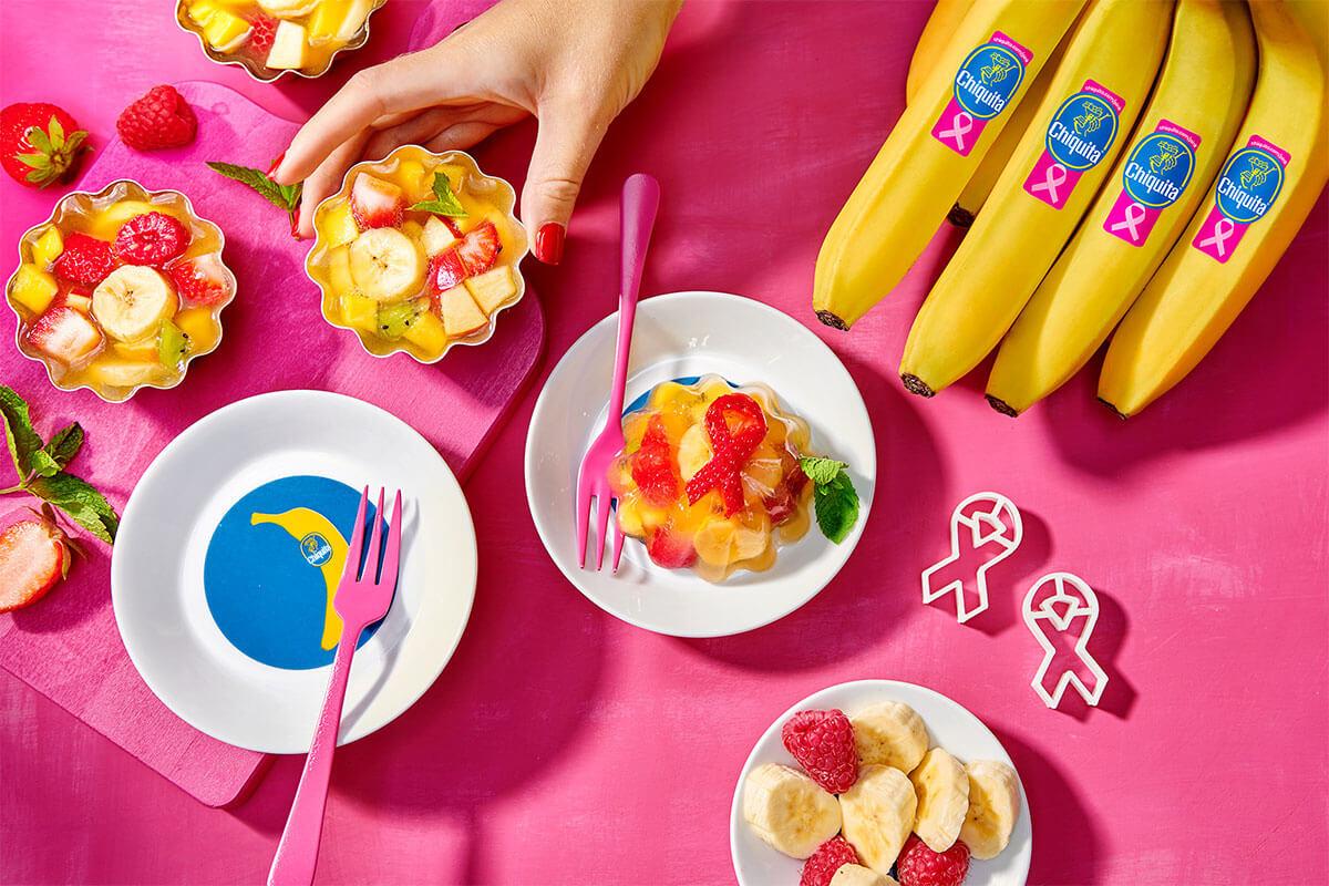 Sana macedonia di frutta fresca in gelatina con banana Chiquita