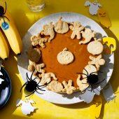 Torta di zucca con banane Chiquita per Halloween facile da preparare