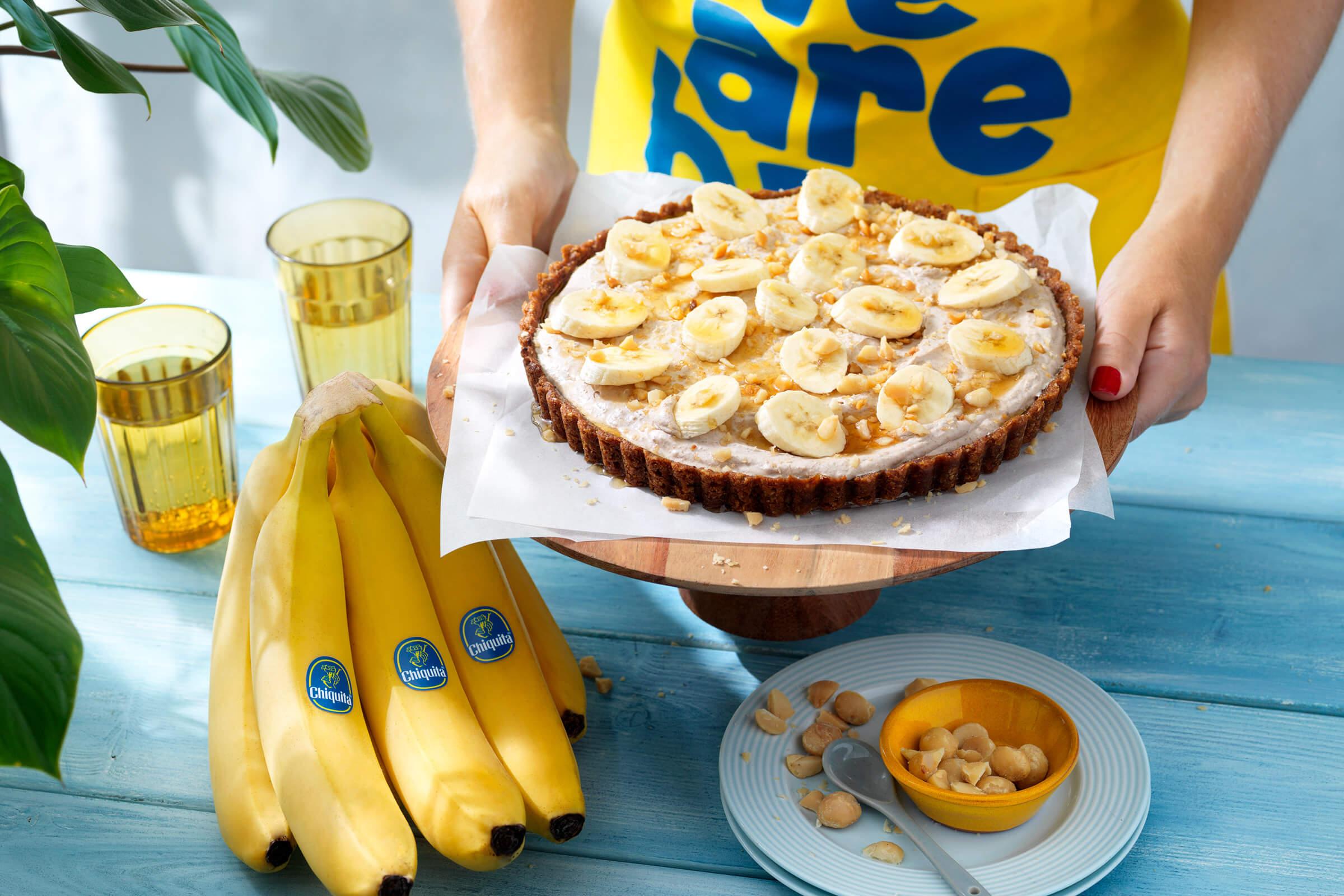 Torta con banane Chiquita facile da preparare