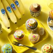 Cupcake colorati alle banane Chiquita