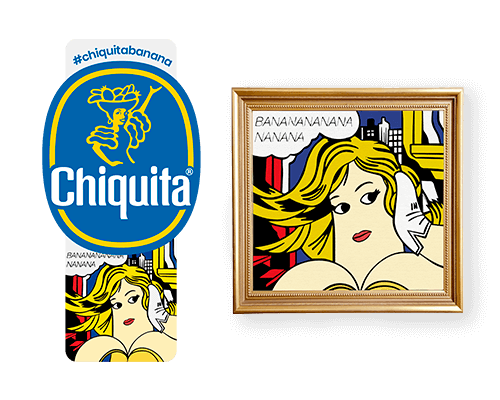 Chiquita-Artist-Sticker_Roy_lichtenstein
