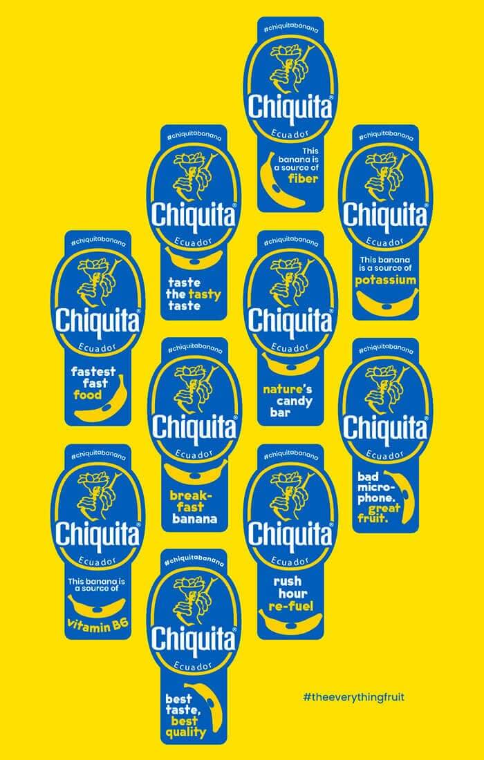 Banana Chiquita: Bollini Nutrizionali