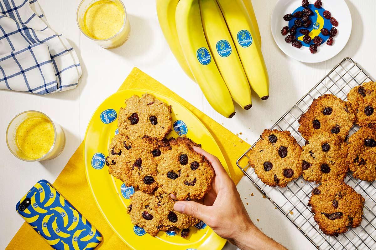Biscotti alla banana per colazione di Chiquita