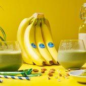 Frullato di banane congelate e matcha di Chiquita