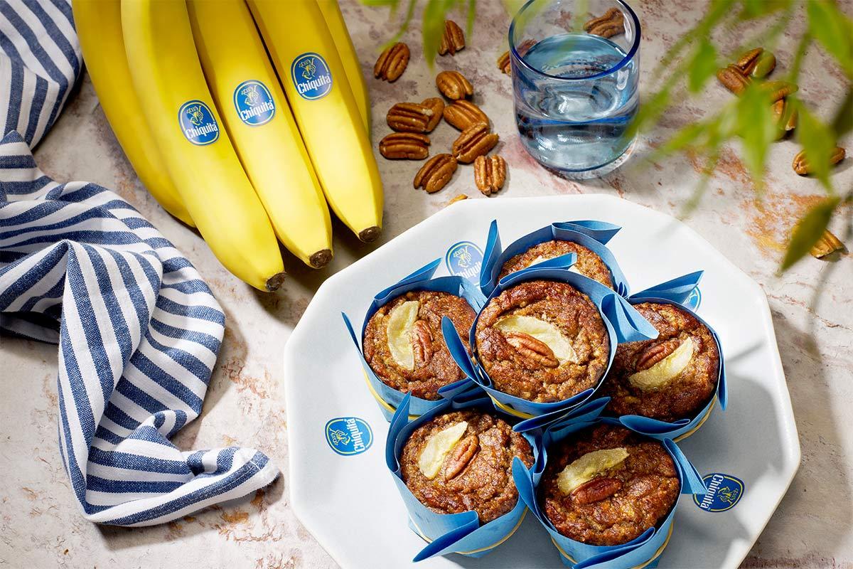 Muffin paleo con banane e noci pecan di Chiquita