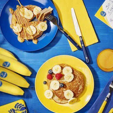 Pancake proteici post-allenamento alla banana di Chiquita