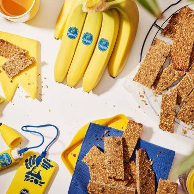 Barrette energetiche pre-allenamento con banane e mandorle di Chiquita