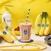 Frullato proteico post-allenamento con banane e frutti di bosco di Chiquita