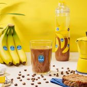 Frullato proteico pre-allenamento a base di banane e mocha di Chiquita