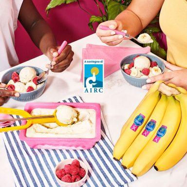 Frozen yogurt alla banana Chiquita e cardamomo